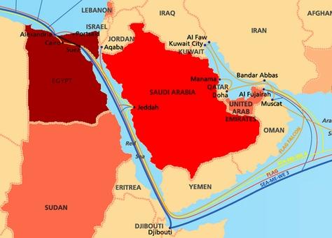 تأثر الاتصال بالإنترنت في الإمارات بسبب انقطاع كابلات بحرية قرب مصر