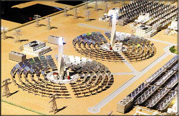 دبي تعتزم بناء أكبر محطة في العالم للطاقة الشمسية المركزة