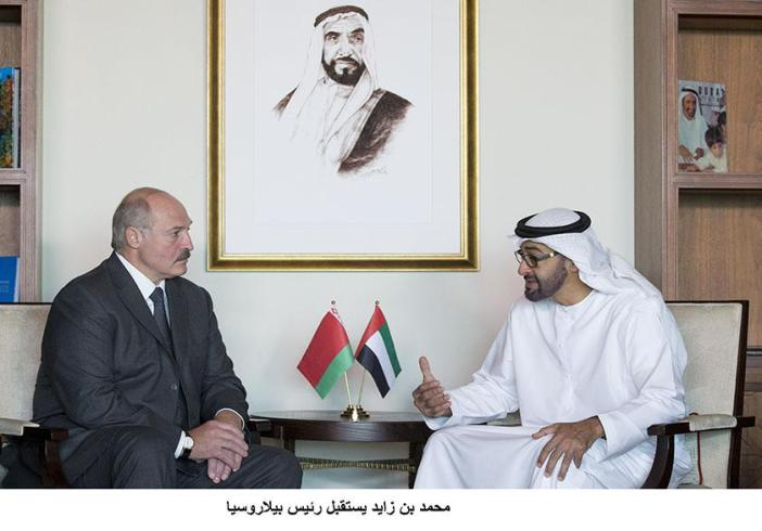 محمد بن زايد يستقبل رئيس بيلاروسيا ويحث معه تعزيز العلاقات بين البلدين