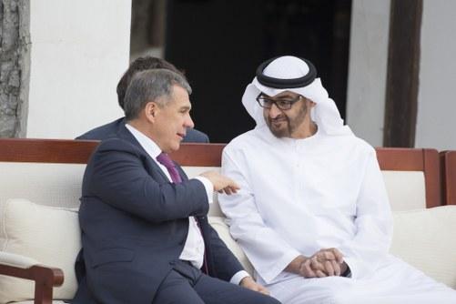 محمد بن زايد يستقبل رئيس تتارستان ويبحث معه العلاقات الثنائية