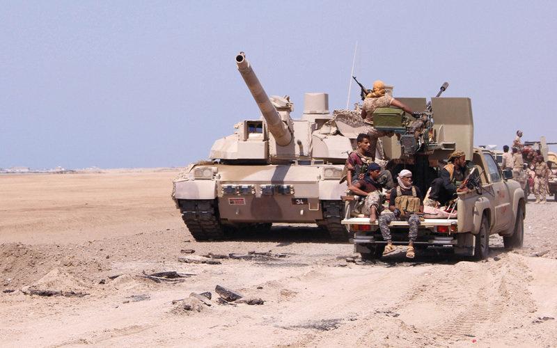 المقاومة اليمنية مسنودة بقوات التحالف العربي تسيطر على عدة مناطق على مشارف الحديدة