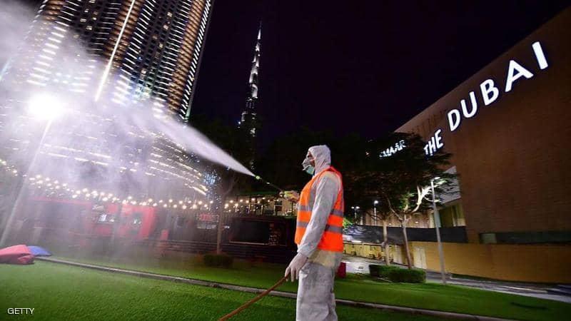 53 إصابة جديدة وحالة وفاة بفيروس كورونا بالإمارات وفرض حظر تجول كلي بأحد مناطق دبي
