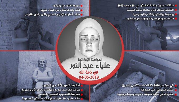 وقفة تضامنية بلندن مع المعتقلة الإماراتية الراحلة علياء الإثنين المقبل