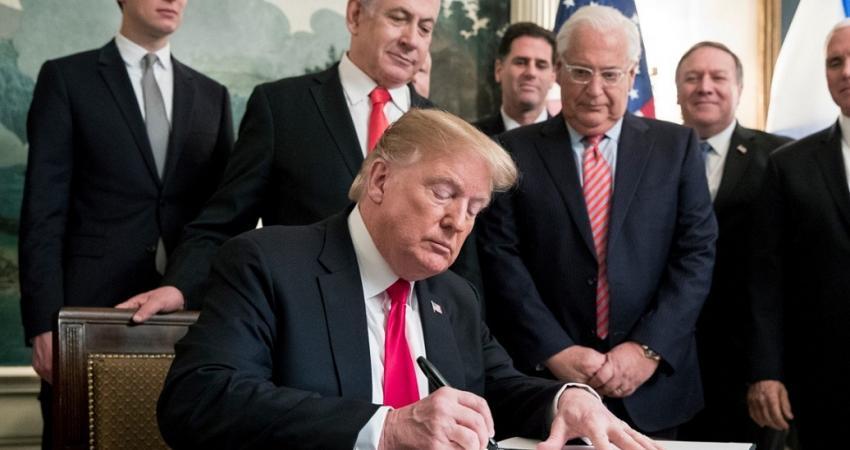 الإمارات تدين اعتراف أمريكا بالسيادة الإسرائيلية على الجولان