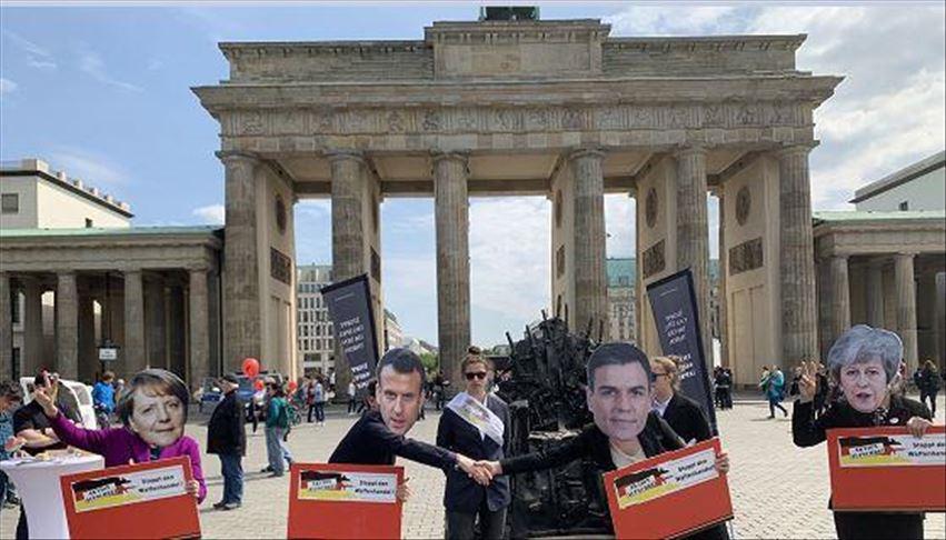 وقفة احتجاجية في برلين ضد بيع السلاح للسعودية والإمارات