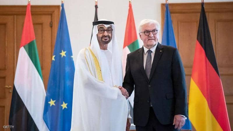 محمد بن زايد يصل برلين و يبحث مع الرئيس الألماني تعزيز التعاون الثنائي