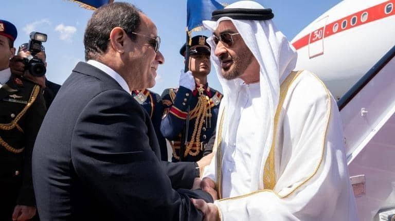 محمد بن زايد يبحث مع السيسي في الإسكندرية التطورات في المنطقة
