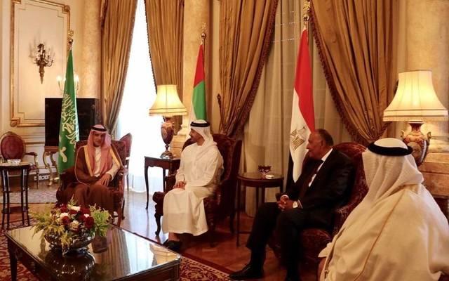 الرباعي العربي برئاسة الإمارات يناقش التدخلات الإيرانية بشؤون الدول العربية
