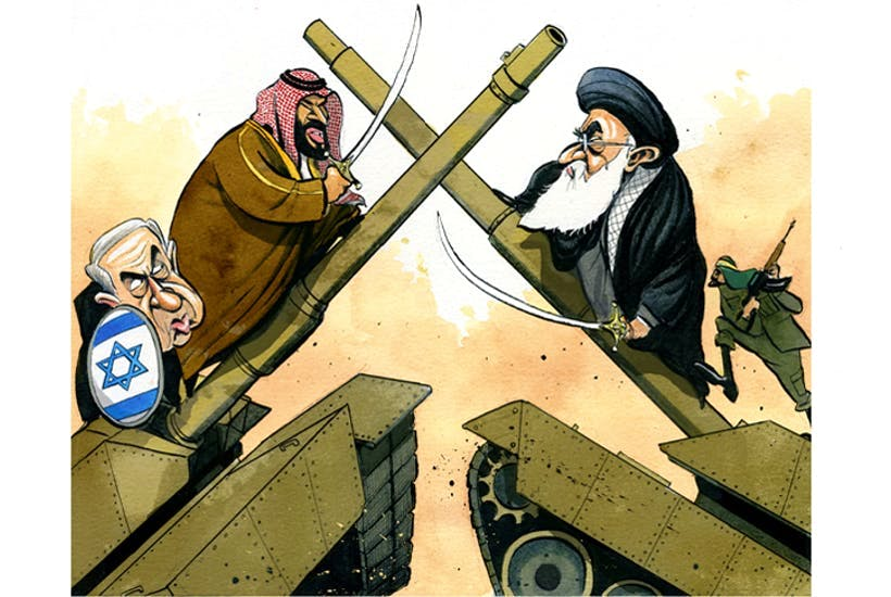 قرقاش ينشر مقالا برسم كاريكاتير يجمع ابن سلمان ونتنياهو